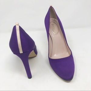 SJP Sarah Jessica Parker purple lady pumps